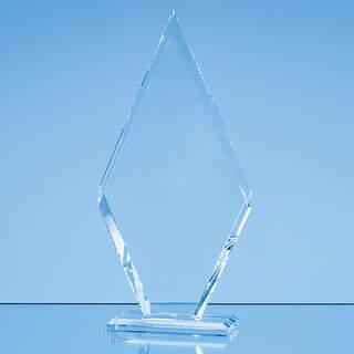 23cm x 12cm x 10mm Clear Glass Le Diamond Award in a Gift Box
