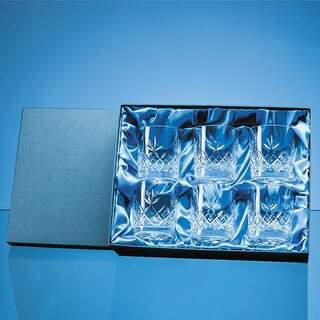6pc 300ml Blenheim Lead Crystal Full Cut Whisky Tumbler Gift Set