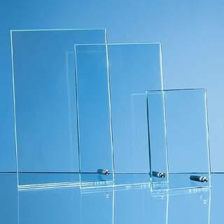 20.5cm x 12.5cm x 1cm Jade Glass Rectangle with Chrome Pin  H or V