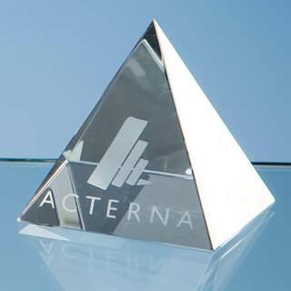 6.5cm Optical Crystal 4 Sided Pyramid