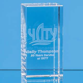 12cm x 6cm x 6cm Optical Crystal Rectangle  H or V