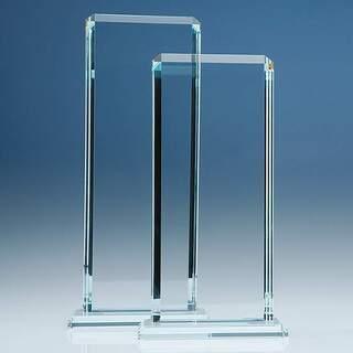 28cm x 12.75cm x 12mm Clear Glass Echo Award